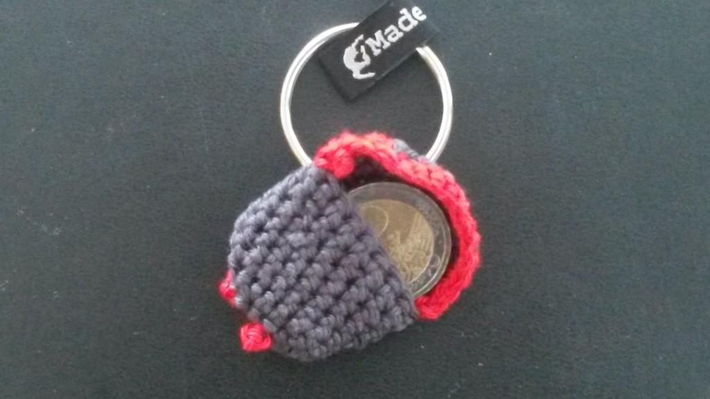 Porte-clés jeton au crochet - ouvert