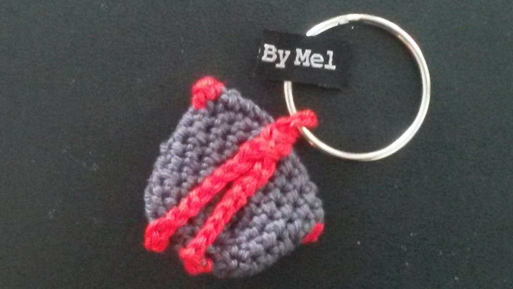 Porte-clés jeton au crochet - dos