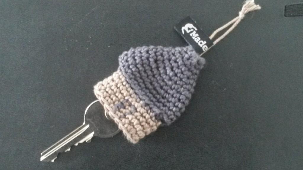 Porte-clés maison au crochet - vue d'ensemble