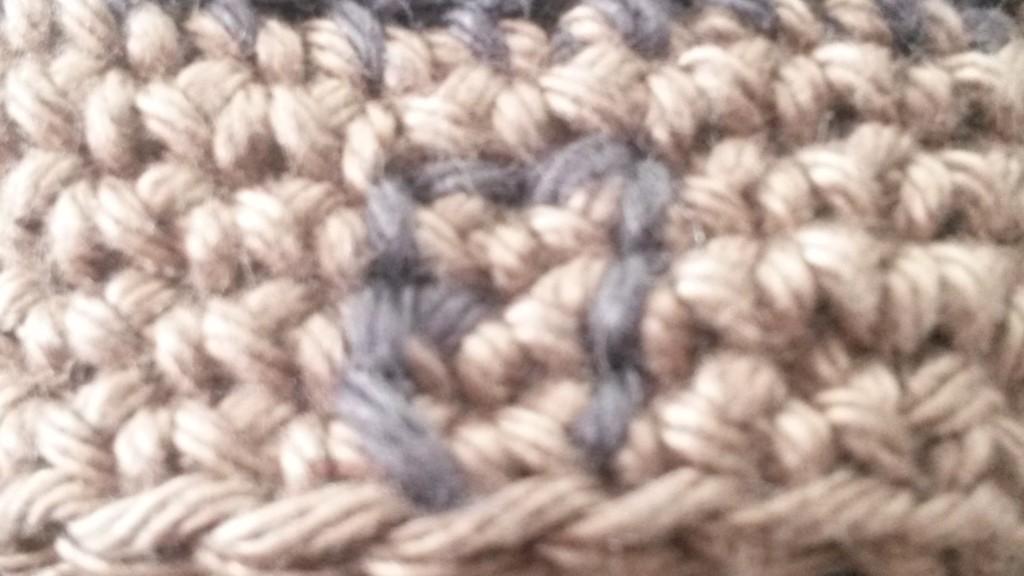 Porte-clés maison au crochet - zoom