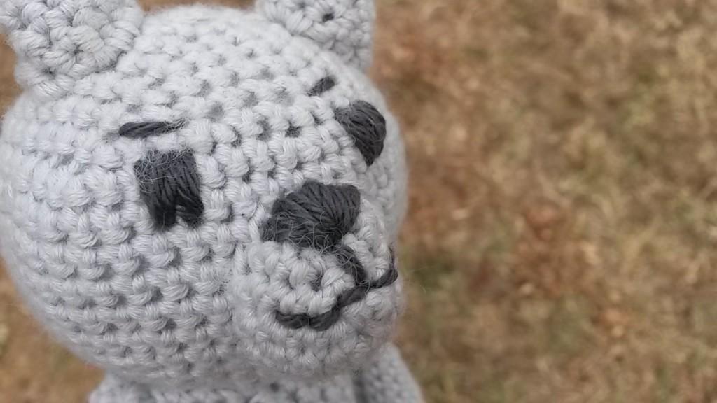 nounours au crochet - visage