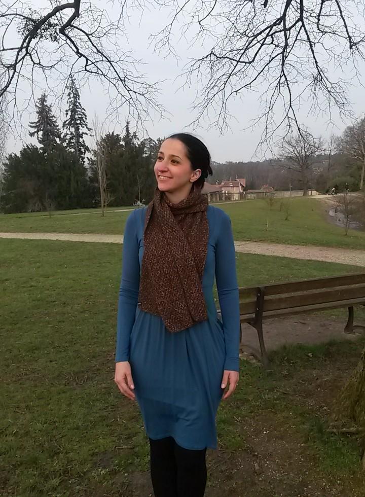 Écharpe au tricot