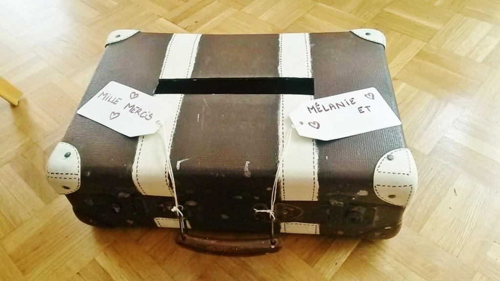 DIY cagnotte valise
