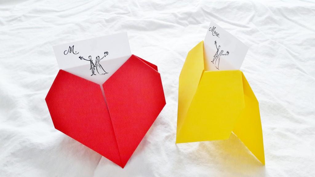 DIY porte-noms origami