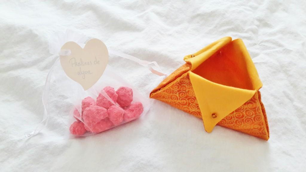 DIY contenant en tissu patchwork et pralines