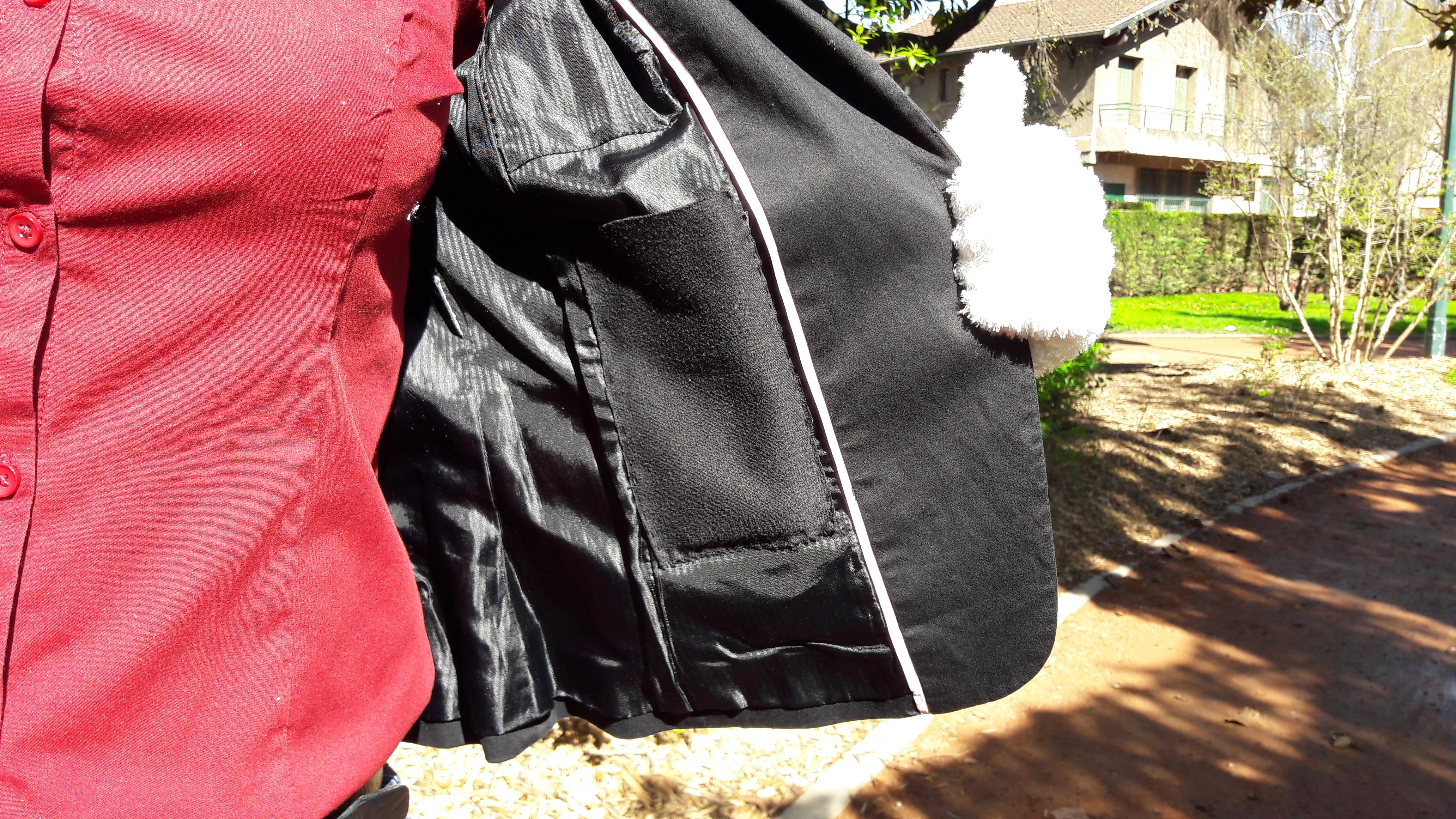 Une poche intérieure dans les vestes de tailleur Made By Mel
