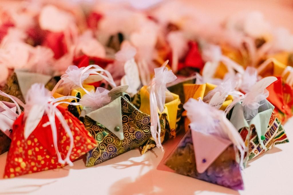 DIY contenants en tissu patchwork pour pralines