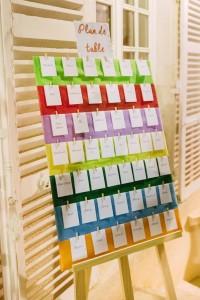 DIY plan de table coloré