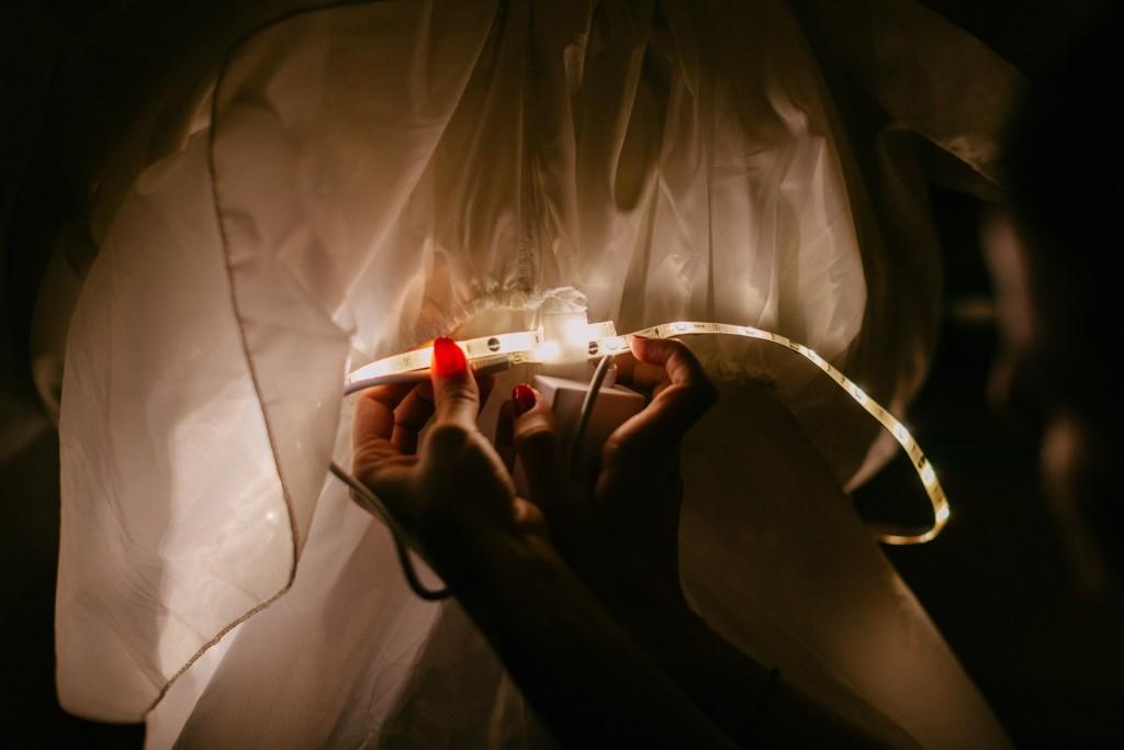 DIY robe de mariée qui s'éclaire - technique