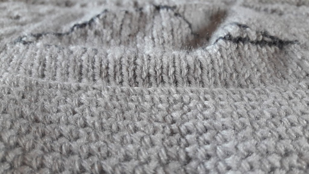 Tricot plaid patchwork - bordure crochet