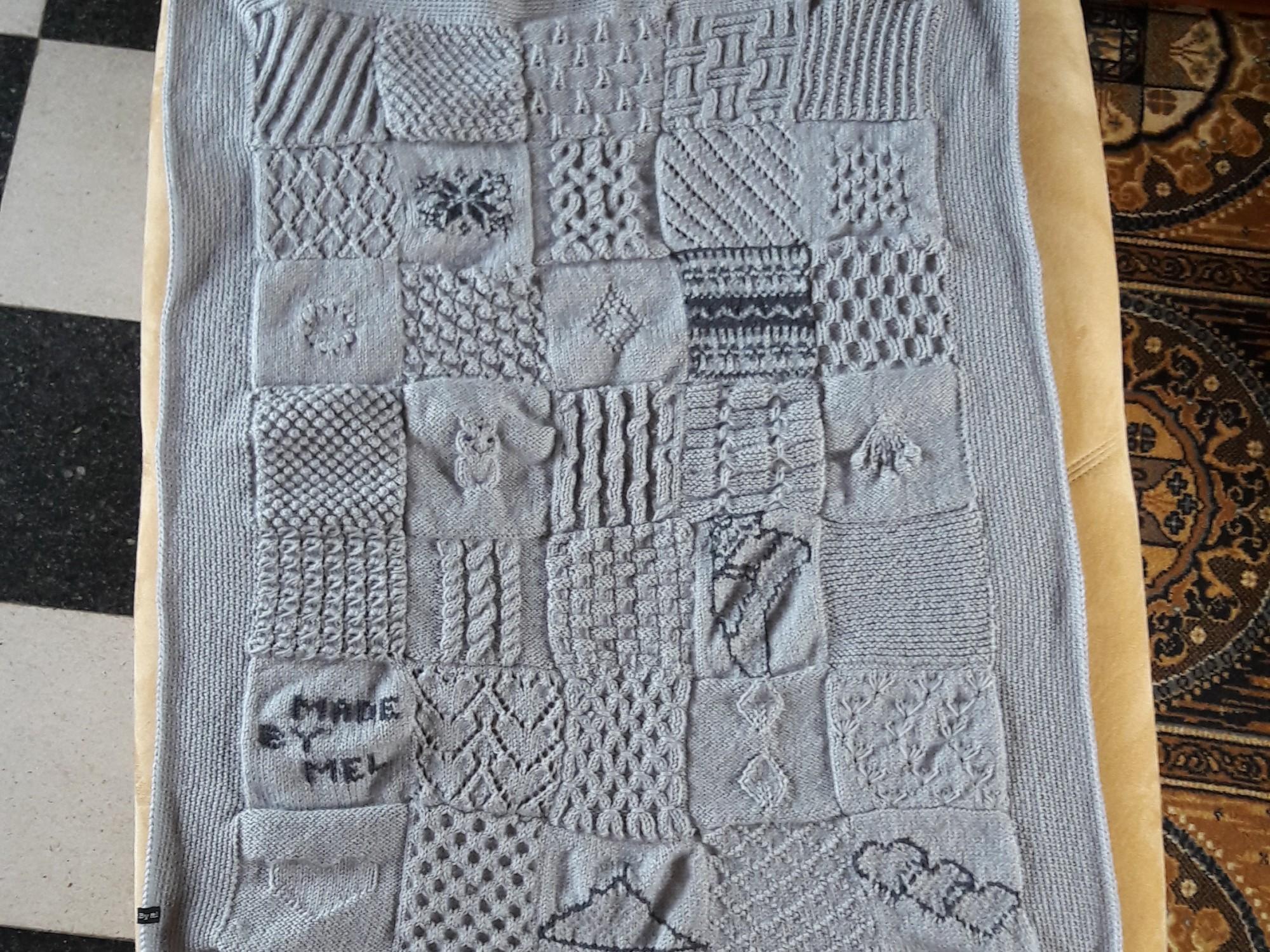 Tricot plaid patchwork