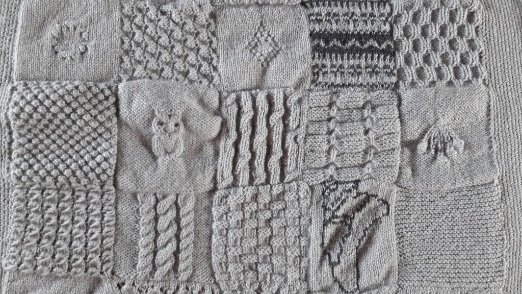 Tricot plaid patchwork - lignes 3 à 5