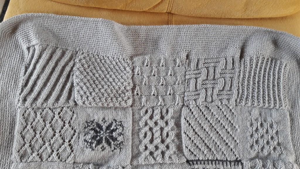 Tricot plaid patchwork - lignes 1 et 2