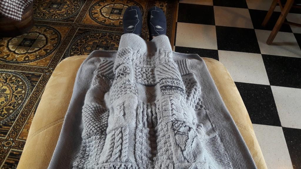 Tricot plaid patchwork - vue couverture