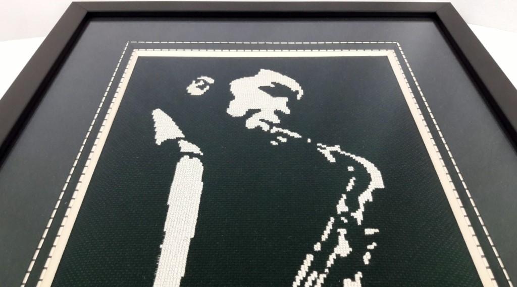 Broderie point de croix jazzman - Made By Mel (1)