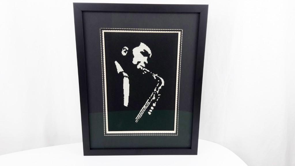 Broderie point de croix jazzman - Made By Mel (2)