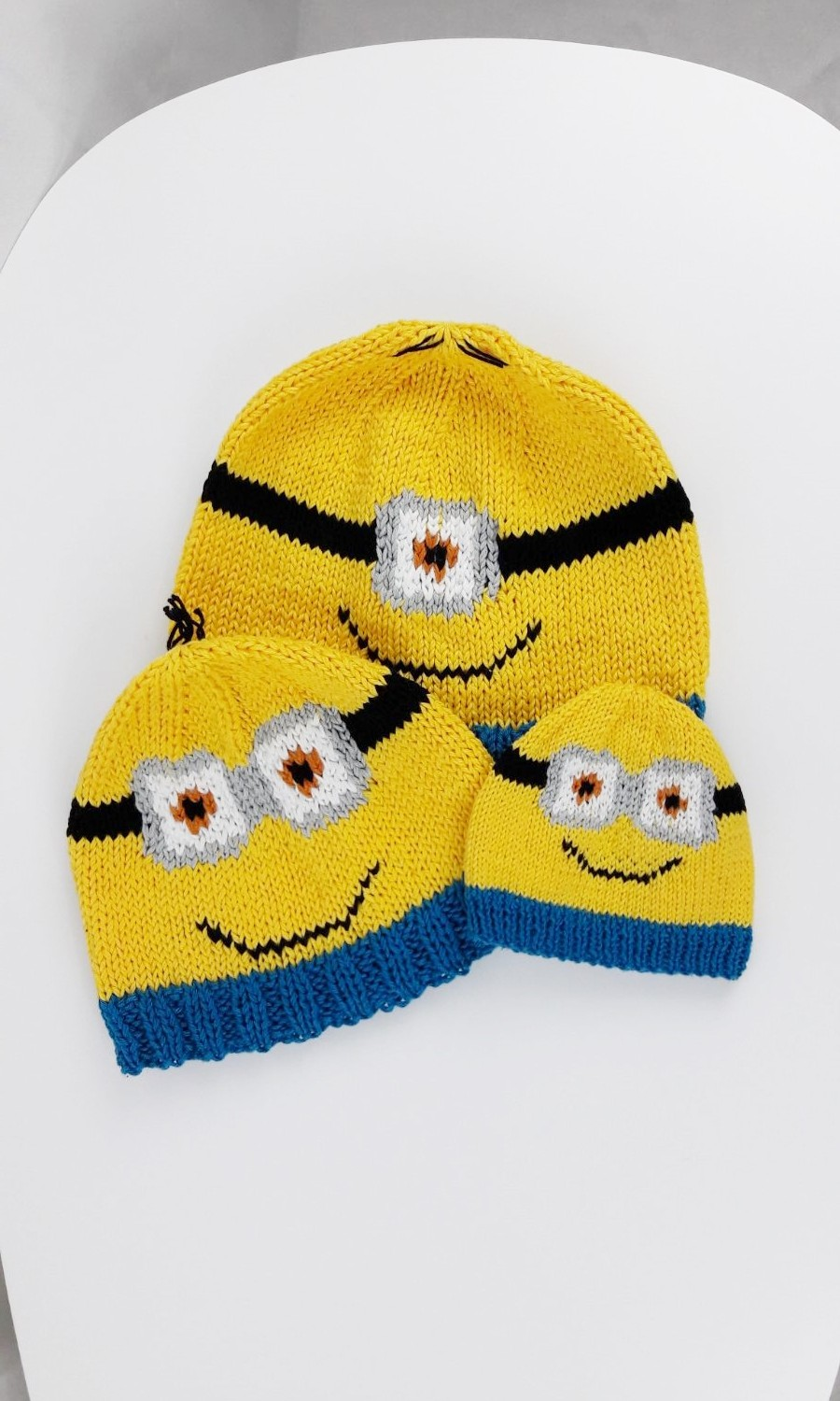 Tricot bonnets Minions - Made By Mel (8)