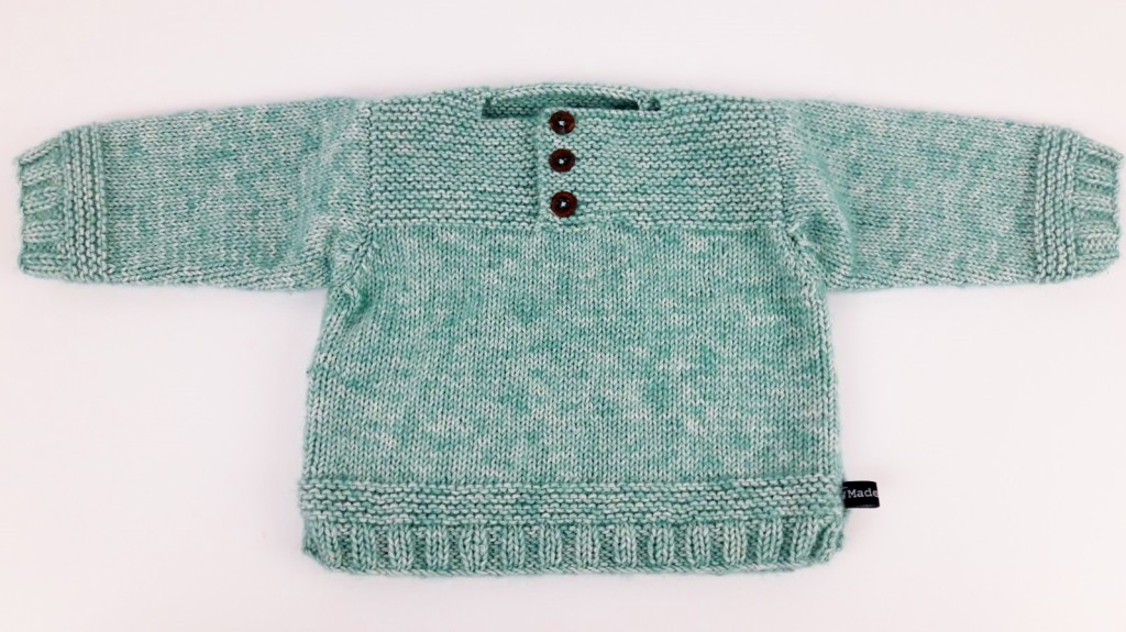 Tricot pull bébé et chaussons - Made By Mel (6)